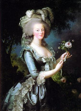 Marie Antoinette, wife of King Louis XIV, of France